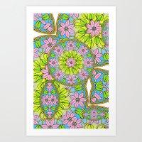 Color Me Spring Mandala Art Print