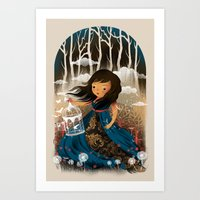 There Once Was A Girl In… Art Print
