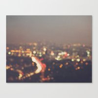 bokeh photograph, Los Angeles, Abstract Mulholland Canvas Print