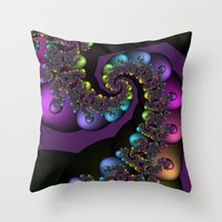 Rainbow Caterpillar Throw Pillow
