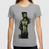 Naked Black and White Womens Fitted Tee Athletic Grey SMALL