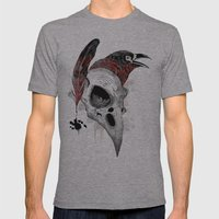 DARK WRITER Mens Fitted Tee Athletic Grey SMALL