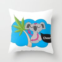 Cheers mates Throw Pillow
