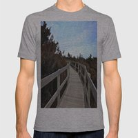Path Mens Fitted Tee Athletic Grey SMALL