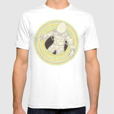 Augonaut White Mens Fitted Tee SMALL