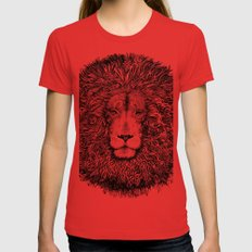 king of the jungle  Womens Fitted Tee Red SMALL