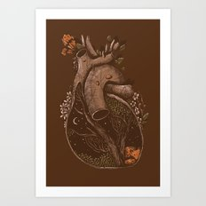 In the Heart of the Woods Art Print