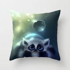 Forest Lemur Throw Pillow