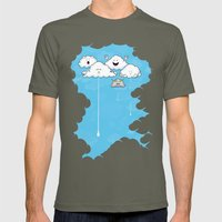 Young Clouds fooling around Mens Fitted Tee Lieutenant SMALL