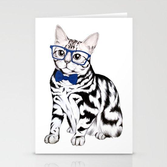 Kitty Stationery Card