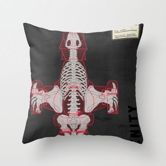 Spaceship Skeletal Survey: The Serenity  Throw Pillow