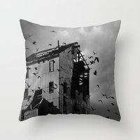 Ghosts Of Industry Throw Pillow