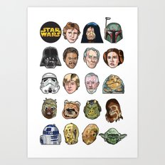 Star Wars Portraits Set Art Print