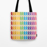 Rainbow King Bear Tote Bag