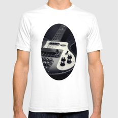 Rickenbacker Bass [B&W] Mens Fitted Tee White SMALL