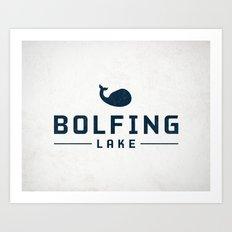 BOLFING LAKE Art Print