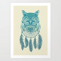Midnight Dream Catcher Art Print