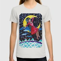 Selene's Moon Day Dreamzzz Womens Fitted Tee Silver SMALL