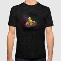 Space Duck Mens Fitted Tee Tri-Black SMALL