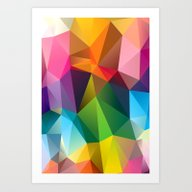 Art Print featuring Geometric View by Three Of The Possess…