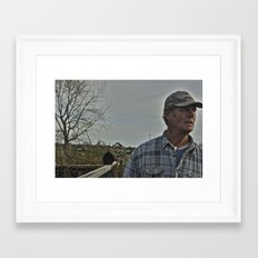 Allotment Andy Framed Art Print