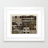Wall Of Sound Framed Art Print