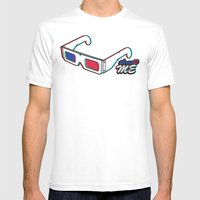 ThreeD Me Mens Fitted Tee White SMALL