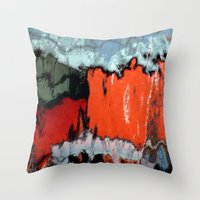 Stained Glass Water Throw Pillow