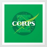 For The Corps Art Print