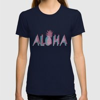 Vintage Aloha  Womens Fitted Tee Navy SMALL