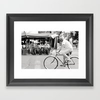 Blur By Biker In Mexico … Framed Art Print