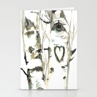 Winter Romance Birch For… Stationery Cards