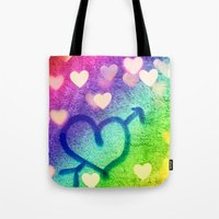 Graffiti Hearts  Tote Bag