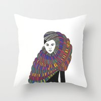 Fashion Illustration 2  Throw Pillow