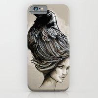 iPhone & iPod Case featuring Raven Haired by jewelwing