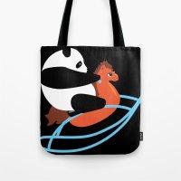 Panda Rock Tote Bag