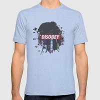 We Need To DISOBEY Mens Fitted Tee Athletic Blue SMALL