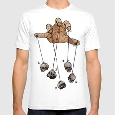 The Five Dancing Skulls Of Doom White Mens Fitted Tee SMALL