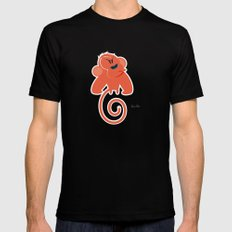 Angry moonkey  SMALL Mens Fitted Tee Black