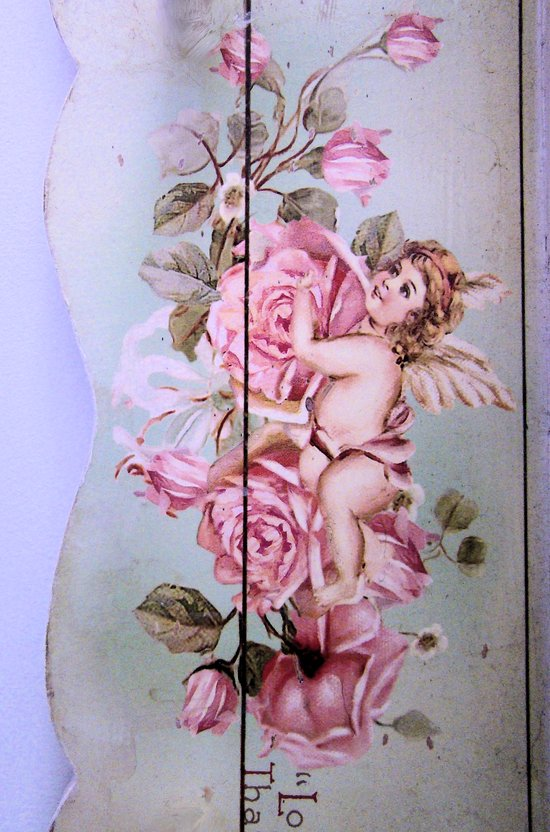 Angel Rose woodpanel Canvas Print