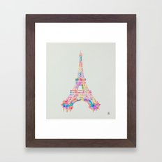 Torre Eiffel Framed Art Print