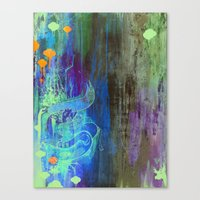 Enchanted Bunny Beats The Burst Canvas Print