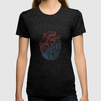 Love is...heart and reason Womens Fitted Tee Tri-Black SMALL