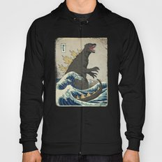 The Great Godzilla off Kanagawa Hoody