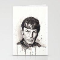 Spock Star Trek Stationery Cards