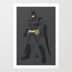 DC - BAT MAN Art Print