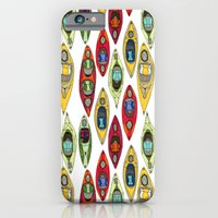 iPhone & iPod Case featuring I Heart Kayaks Pattern by Jenna Freimuth