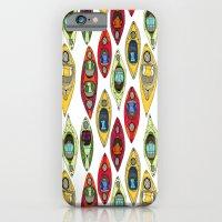 I Heart Kayaks Pattern iPhone 6 Slim Case
