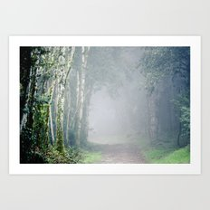 Foggy Trails Art Print