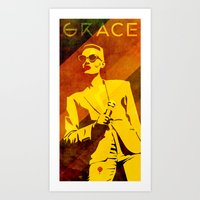 Grace Jones Art Print